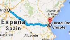 Cómo llegar hasta el hostal desde la estación de tren - Mapas - Maps - Mappe - Karten - Cartes