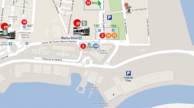 Aparcamiento y transporte público: Parking - Bus -Metro - Bicicleta - Taxi