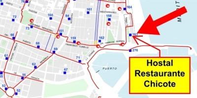 Mapa Carril Bici Valencia + estaciones Valenbisi